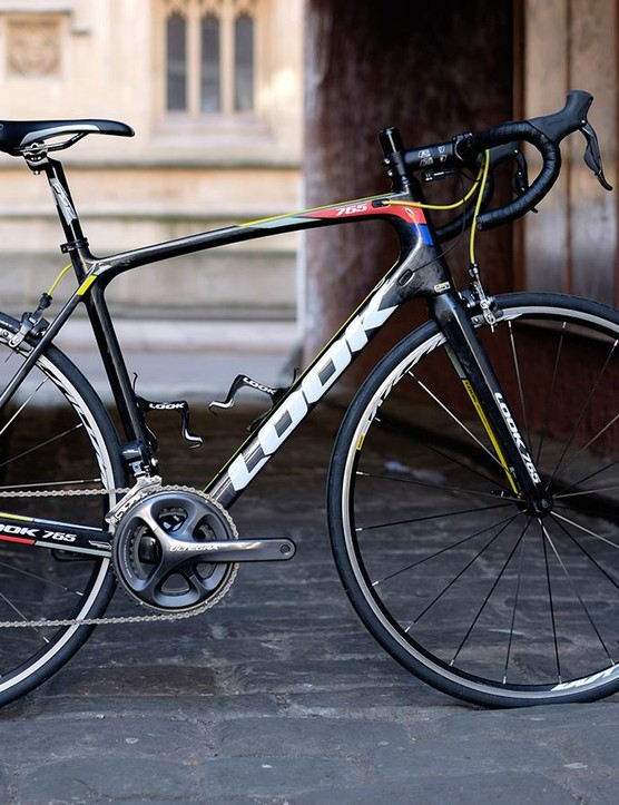 Look's 765 Ultegra is unusual in that it has flax layered into its carbon frame