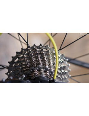 The 11-32t cassette offers a great range for going both directions on hills