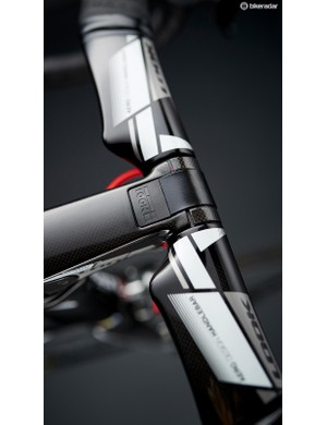 The Aerostem has a neat hidden clamp that smooths the leading edge of the bike into the wind