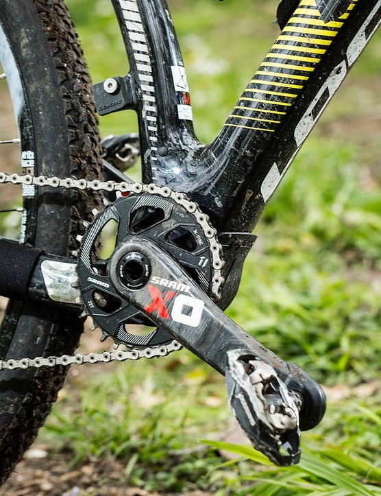 SRAM X01 1x11 transmission is a good race choice