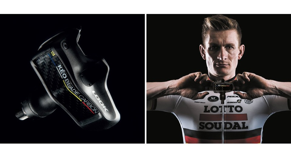 Here's Andre Greipel looking handsome with the new Look KEO Blade carbon pedals