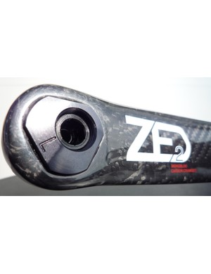 The new carbon cranks come with Look's Trilobe Technology, which allows one crank arm to function in three lengths