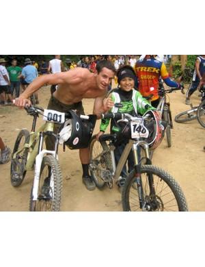Brian Lopes with Patrick in the Philippines.