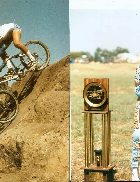 A very young Brian Lopes, winning big in BMX before his downhilling days.