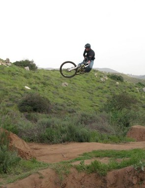 What else? Lopes catching BIG air.