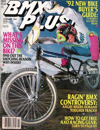 Flyin' Brian, on the cover of BMX Plus magazine in 1992.