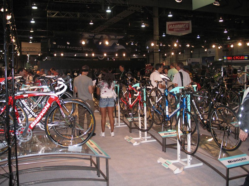 The sheer number of bikes on display may cause show attendees to go into a daze.