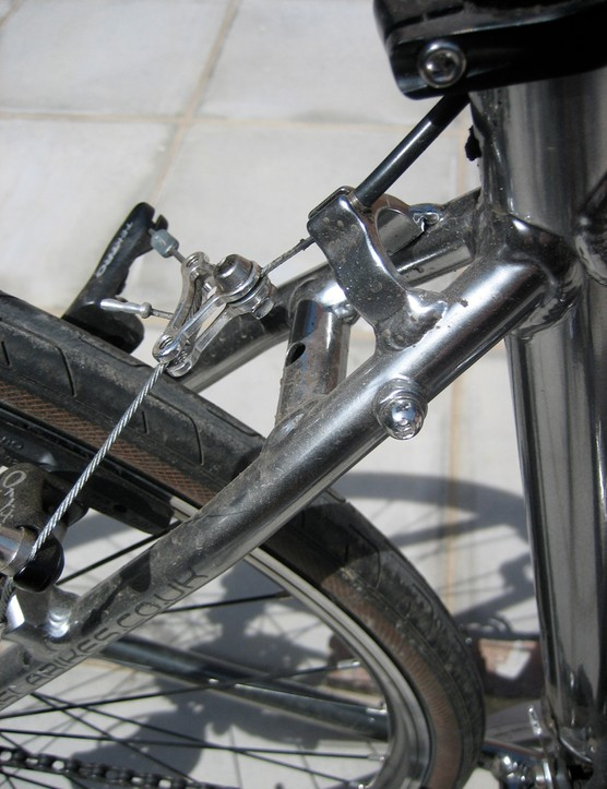 Cantilever brakes are the sensible option with dropp bar levers and offer plenty of stopping power