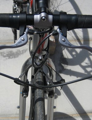 Auxiliary brake levers make stopping from the tops easy and safe