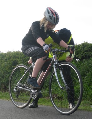 Joyce Jr aboard the Luath 700 for his first time trial