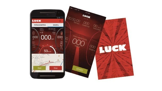 The Luck app works on Bluetooth, but you can use a Garmin or other computer with the Luck power meter