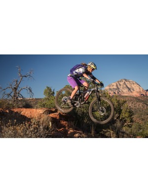 Scholz says the test riding part of her job is her favourite and we can see why!