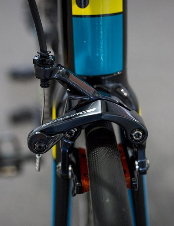 A look at the front brake on the Gallium Pro