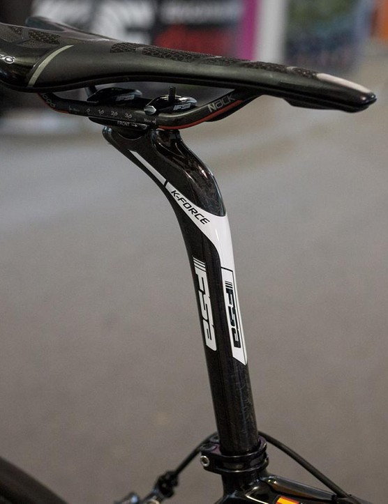Sanchez runs an FSA K-Force seatpost with 32mm of setback