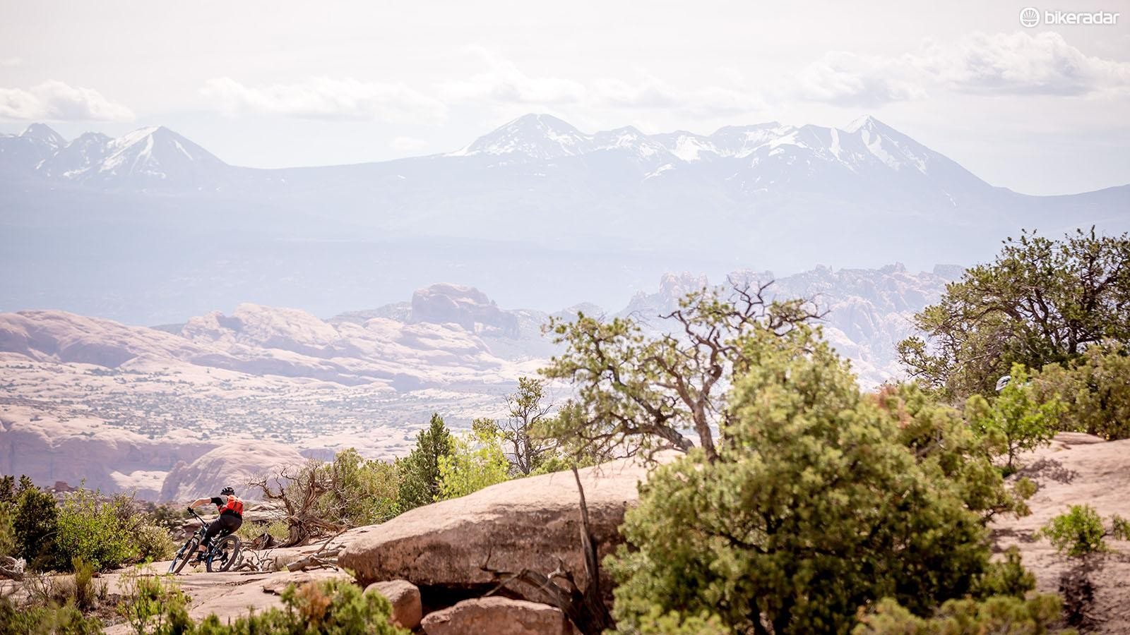 It's hard to take in Moab's stunning views while dodging rocks...