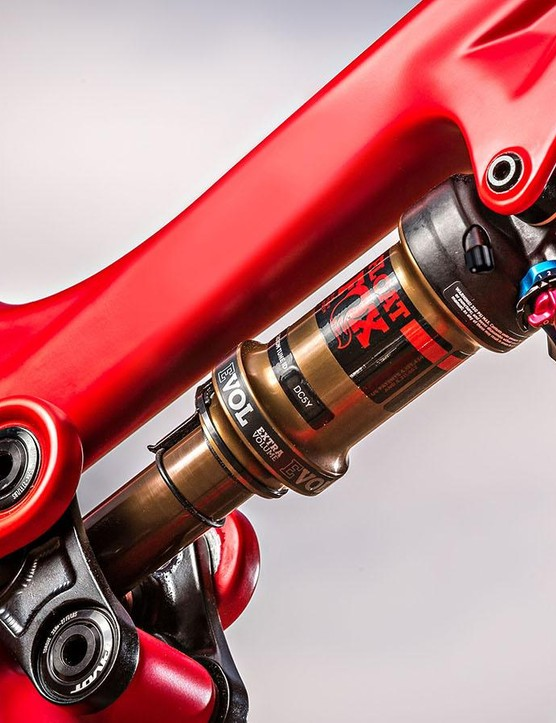 The stock Fox Float DPS shock is good, but aggressive riders should invest in the Float X2 upgrade