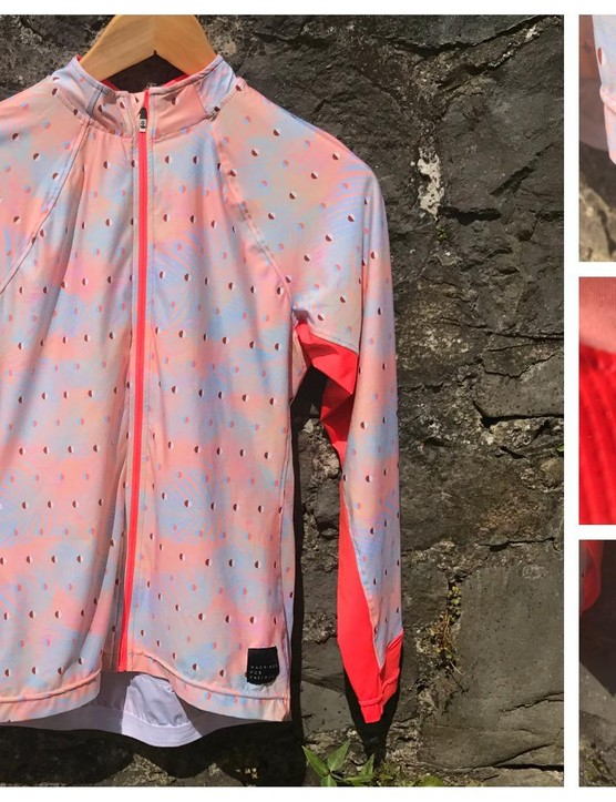 Machines For Freedom's Summerweight long sleeve jersey in blush/palm