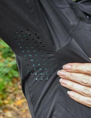 Laser-cut underarm venting