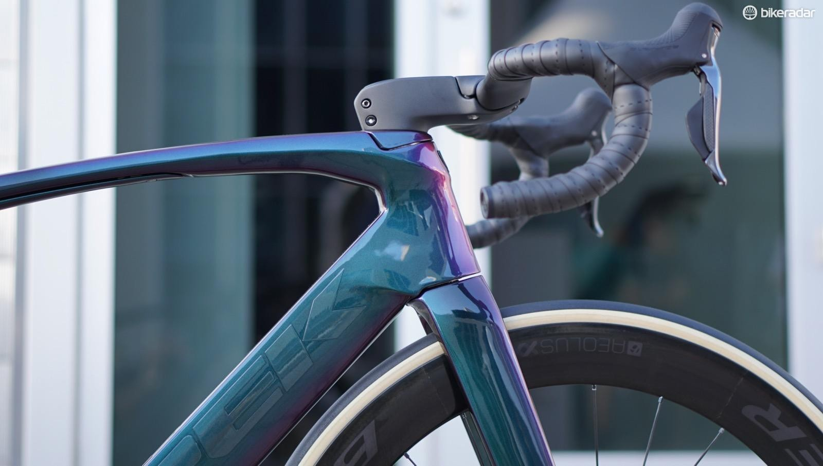 The new Madone has what Trek calls the H1.5 fit — halfway between the ultra-low H1 and the more upright H2