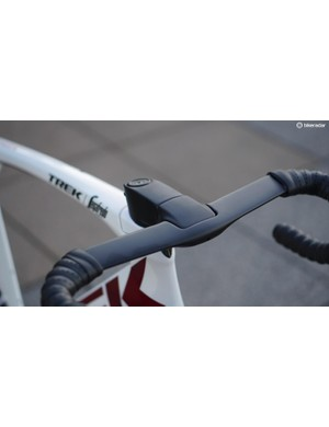 The integrated bar/stem allows for a little bar-angle adjustment