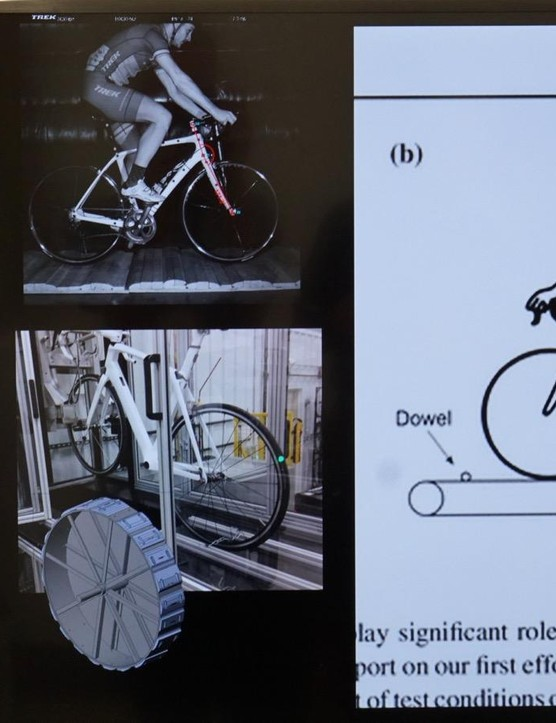 Trek tried a number of methods to test the impact of bumps on a bike