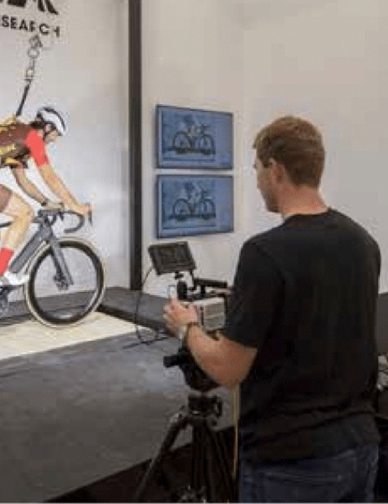 With a bumpy treadmill, a heavily instrumented bike in place and engineers a plenty, all that was left to do was draw straws for who had to/got to ride the treadmill