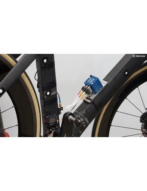 Accelerometers all over the bike and 3D motion capture were used to quantify the what happened to a bike when riding over bumps