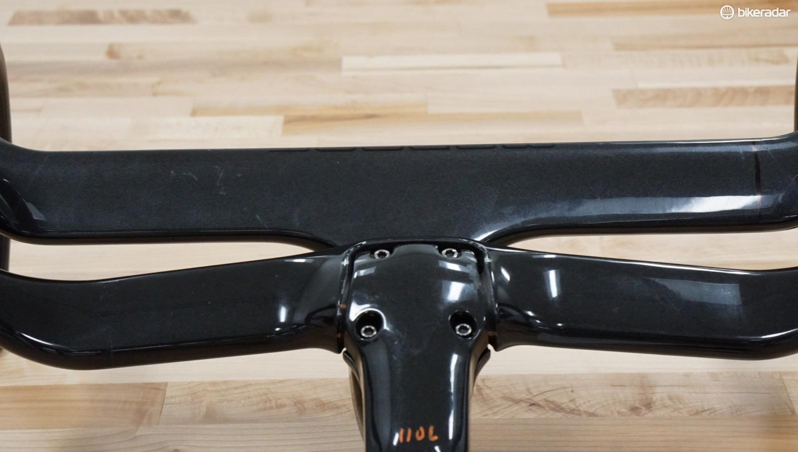 The new Madone bar/stem has +/-5 degrees of bar rotation, compared to the past monocoque design