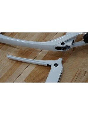 The IsoSpeed junction consists of two main pieces (the frame, and the seatmast/top tube extension) and a pivot