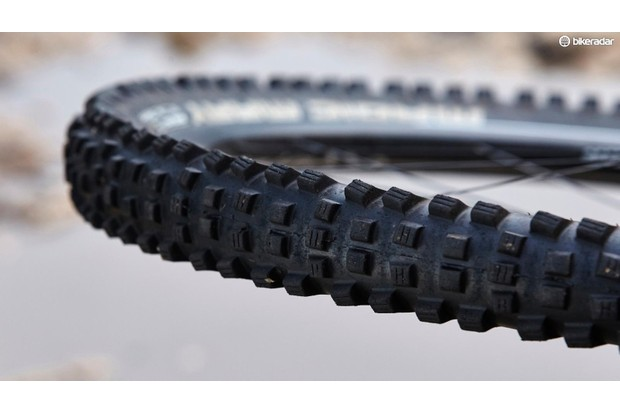An intermediate tyre such as this Schwalbe is a good all-round choice