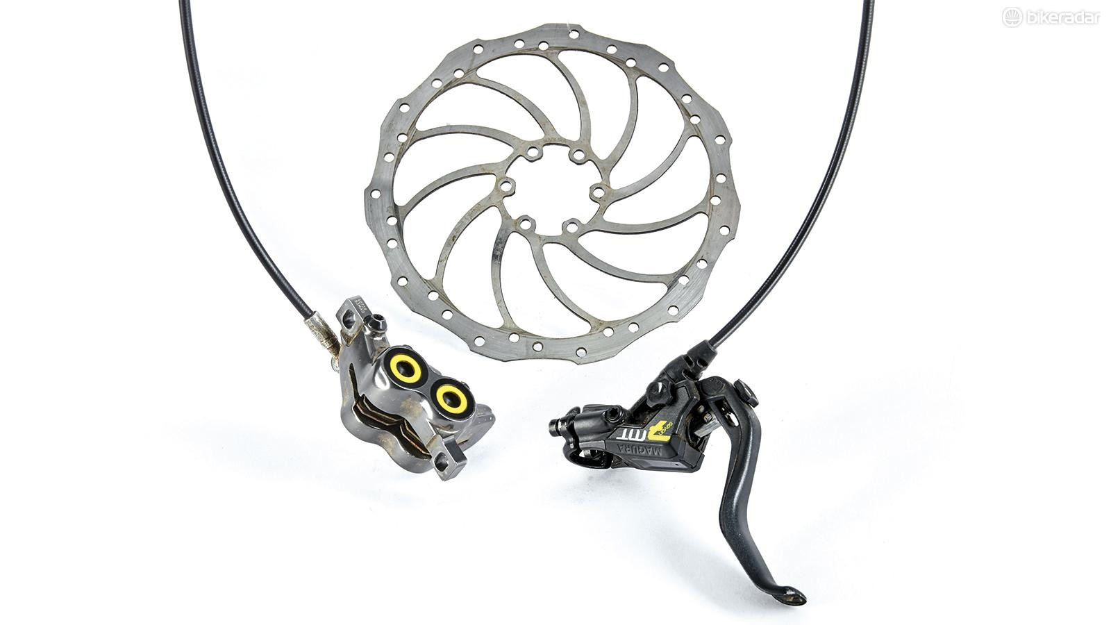 Magura's supremely powerful MT7 brakes are compromised by their wooden feel