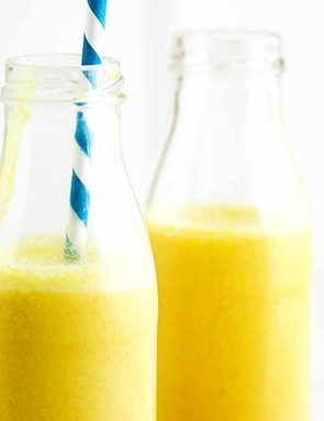 This mango and turmeric lassi is smooth, sweet and spicy