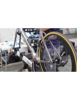 Kittel's rim-brake Venge is at the ready at the Tour