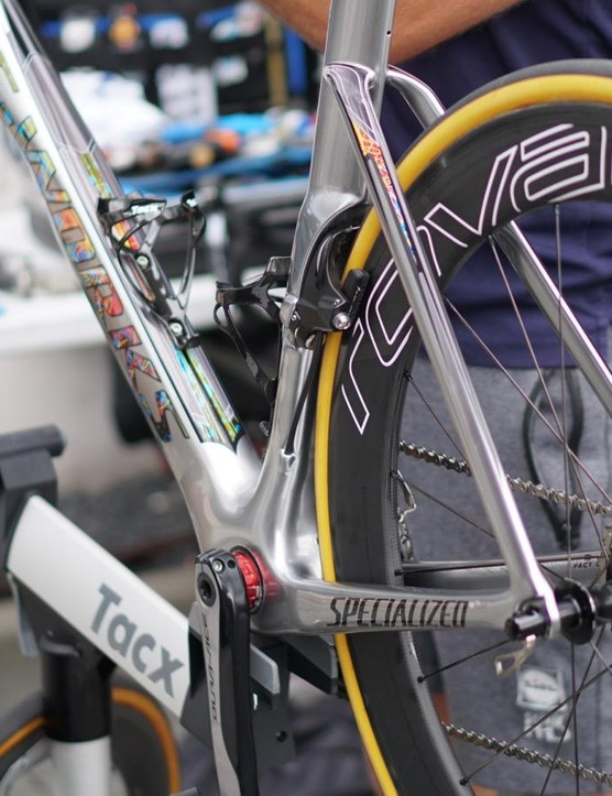 Kittel's rim-brake Venge is at the ready at the Tour