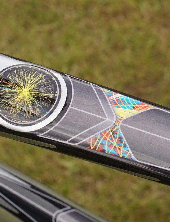 Specialized designer Ron Jones played on the CERN particle accelerator for the bike's graphic theme