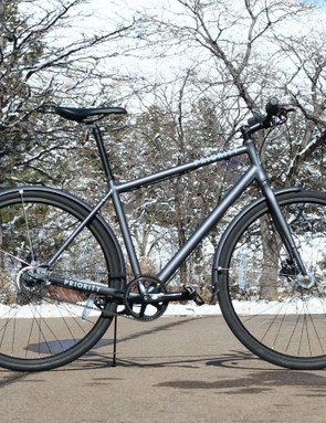 The new Priority Eight is a $799 bike with hydraulic brakes, Gates belt drive and internal Nexus hub