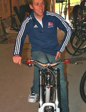 Marc preps his bike