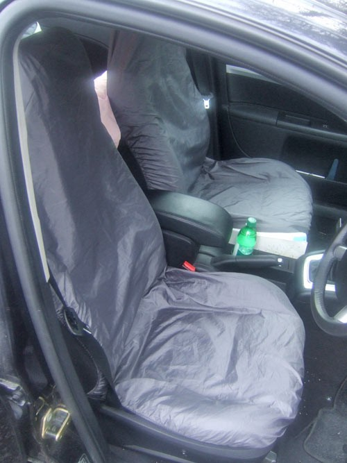 Car seat covered