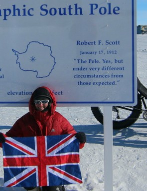 Maria Leijerstam pedalled her way to the South Pole