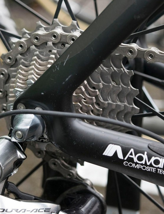 Vos opted for an 11-28t cassette for the hilly terrain of the second stage of the Aviva Women's Tour
