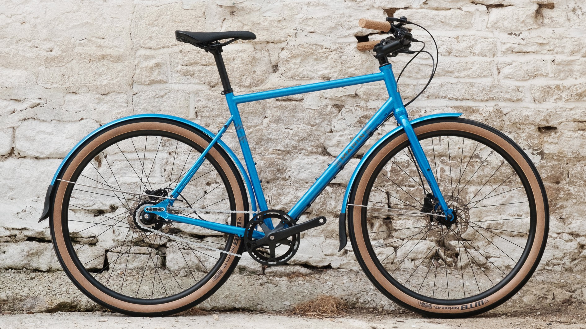 This handsome blue town bike was a standout model at the show