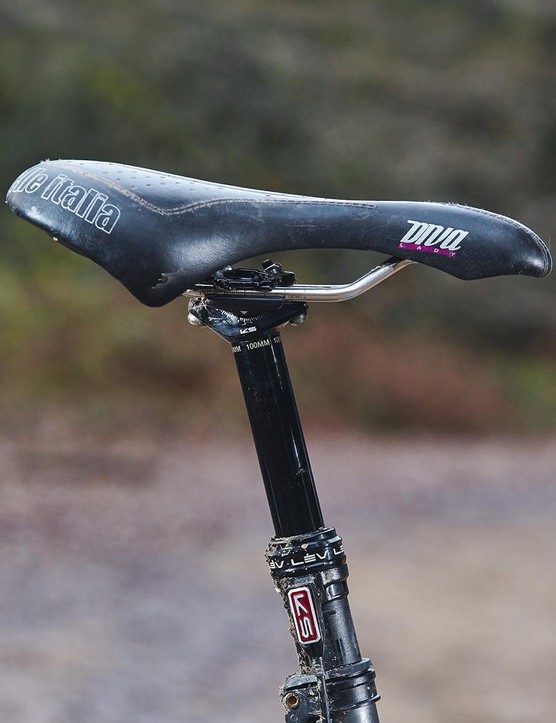 The 100mm drop isn't enough for aggressive trail riding
