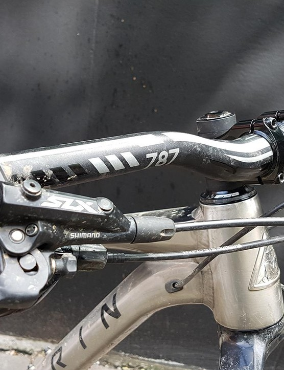 Wide Deity bars aren't often seen as standard on bikes