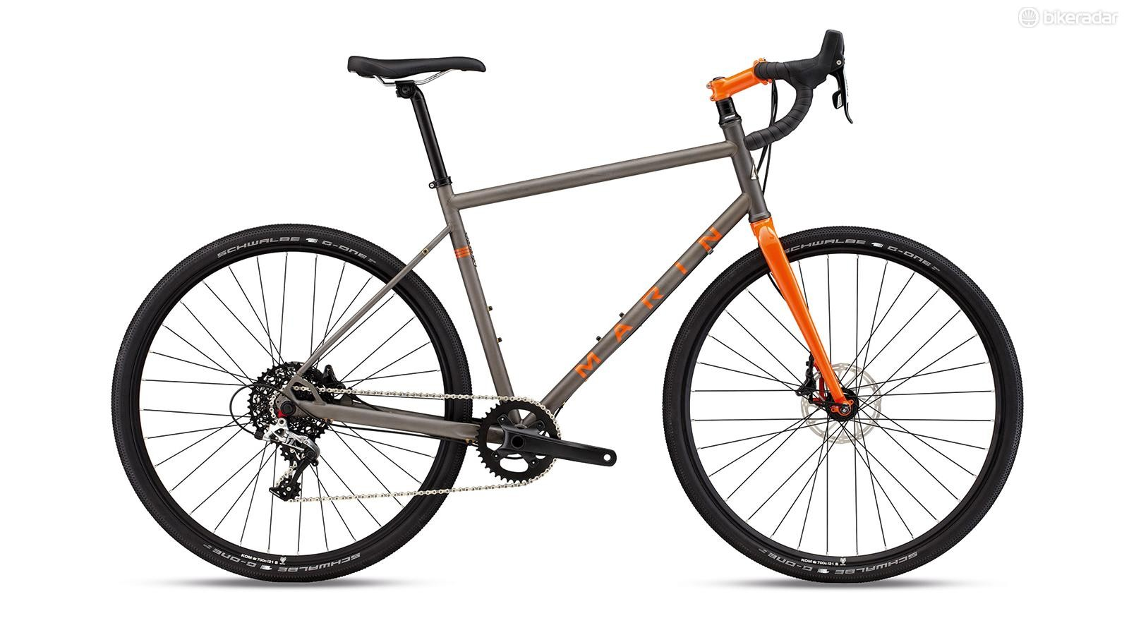 Marin's Four Corners Elite takes traditional steel and bends it into a bang-up-to-date form