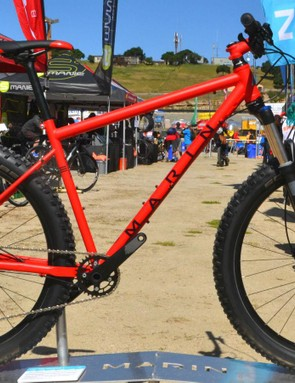 Skinny chromoly tubes and fat, plus-size tires make for a smooth ride