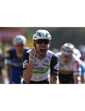 Mark Cavendish wins his fourth stage at this year's Tour de France