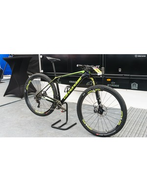 The bike was, of course, fitted with Cannondale's new Lefty Ocho fork
