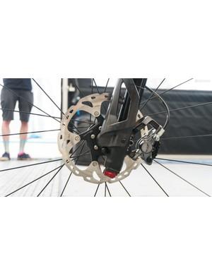 Interestingly, Marotte ran a 180-160mm rotor combo