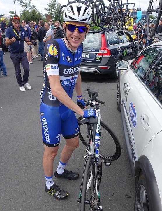 Etixx-Quick Step's Dan Martin was happy before the start of the 2016 Tour de France