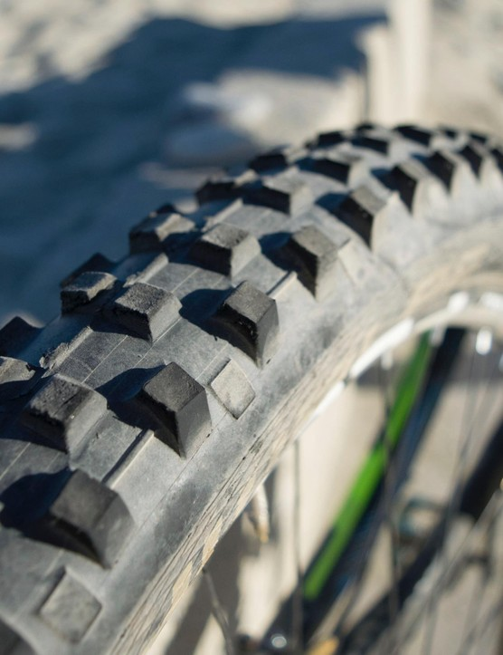 Schwalbe Dirty Dan tyres are cut down for faster rolling